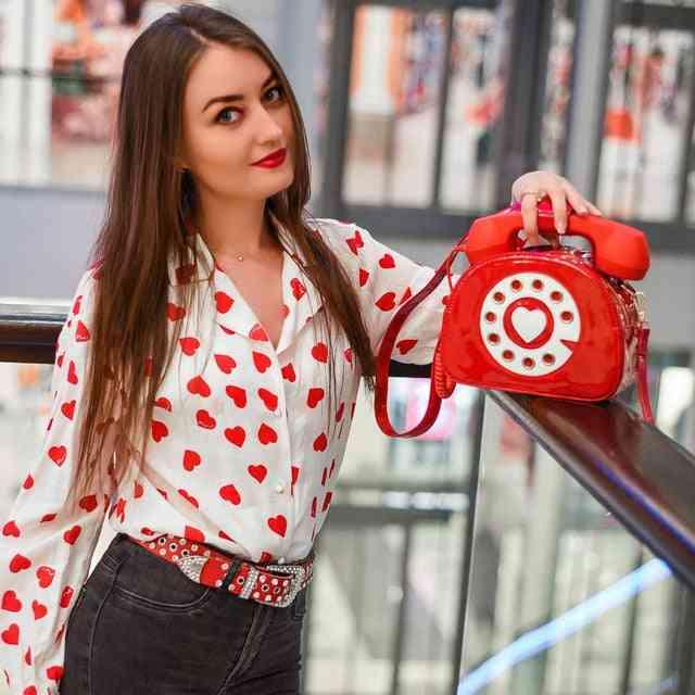 Vintage Sweetheart Phone Style Purses, Shoulder Bag For Girl