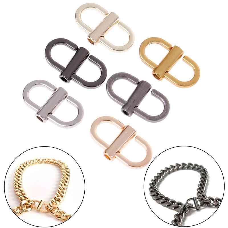 Adjustable Metal Buckle Clip Handbag, Chain Strap Length Shorten Bag Accessories