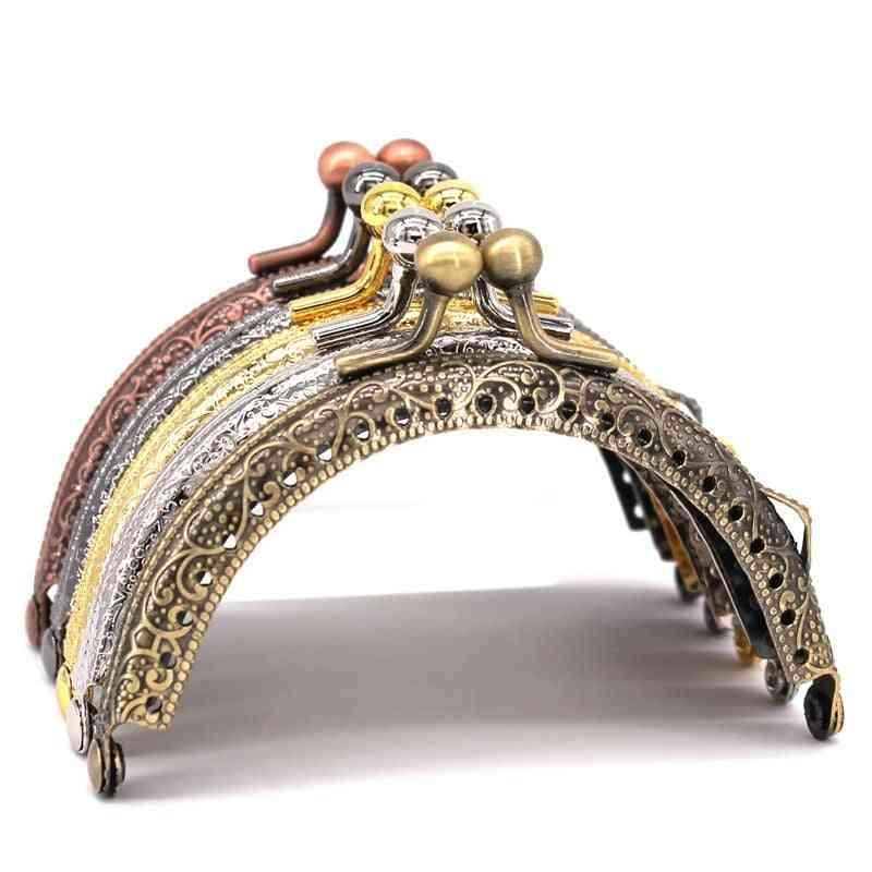 Round Metal Frame Clasp-purse/clutch Handle