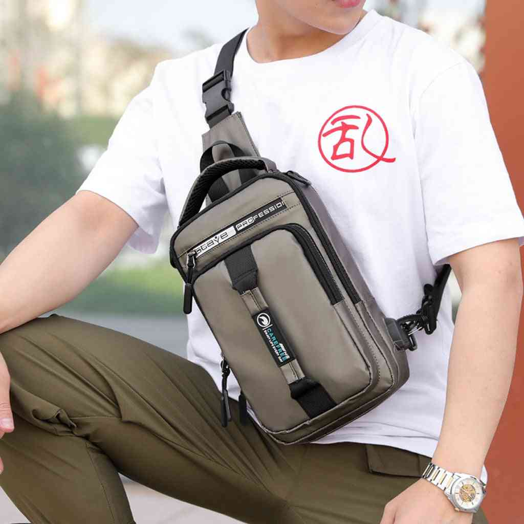 Multifunction Usb Charging Chest Pack, Messengers Bag