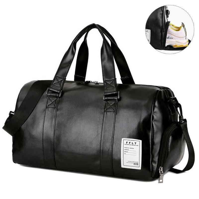 Genuine Leather Dry/wet Travel Sport Bag