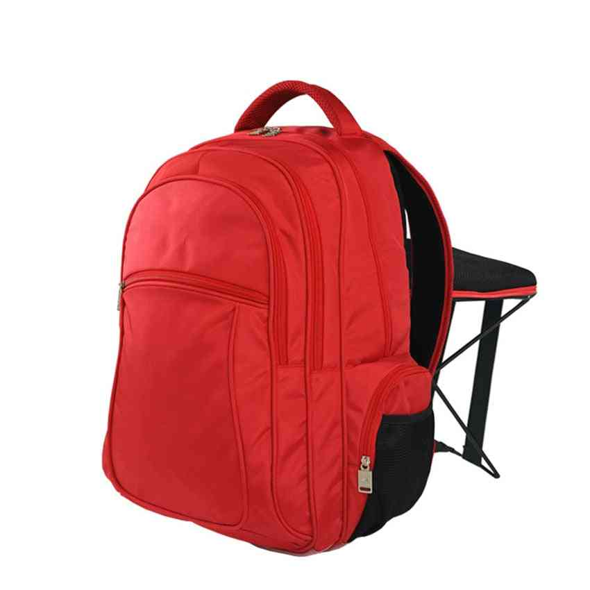 Fishing Chair Backpack, Folding Stool For Outdoor Sports Bag