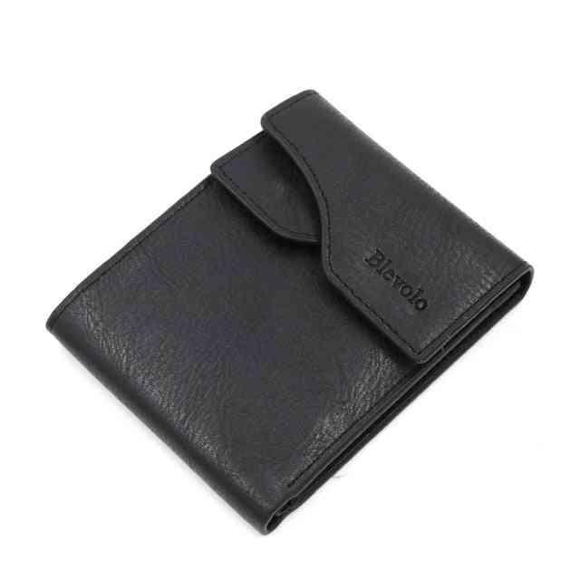 Men Short Skin Purses - Pu Leather Money Wallet