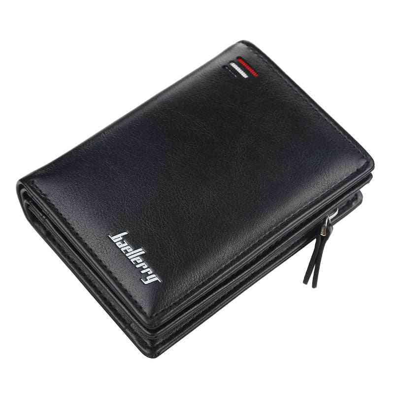 Men Fashion Card Purse, Multifunction Leather Wallet