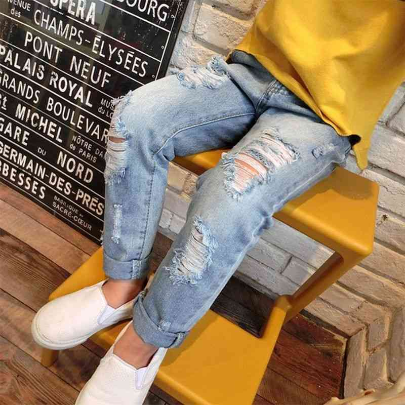 Spring Summer Casual Fashion Broken Hole Kids Jeans For/boys