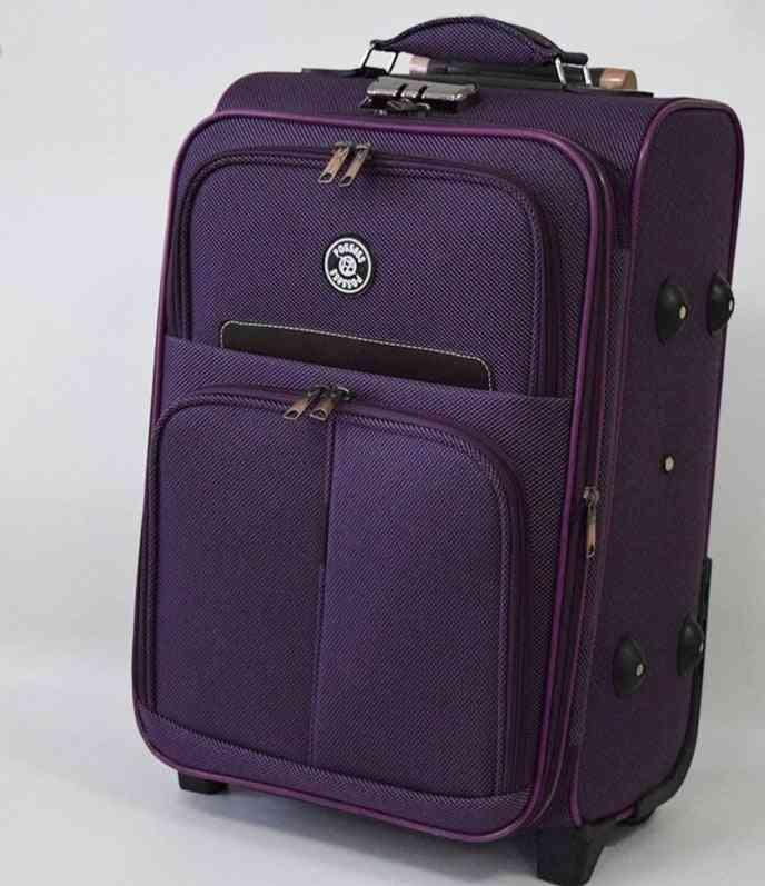 Luggage Wheeled Student Cartoon Batman Design Trolley School Bag