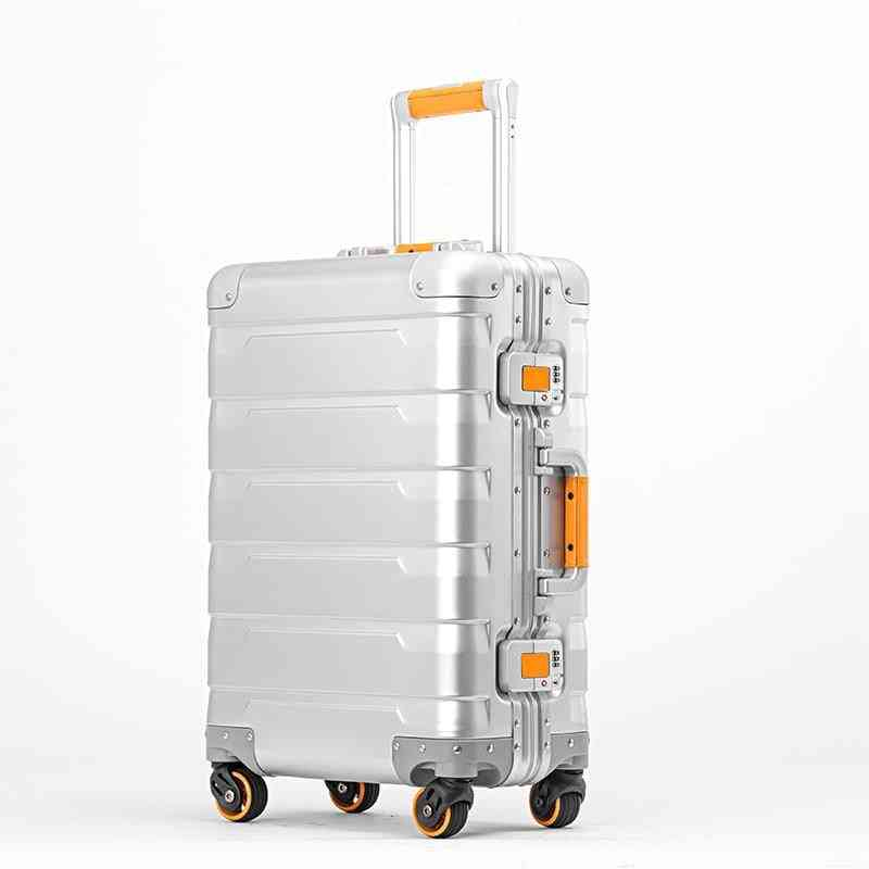 Luxury New Aluminum Travel Suitcase, Cabin Trolley, Luggage Bag With Wheels