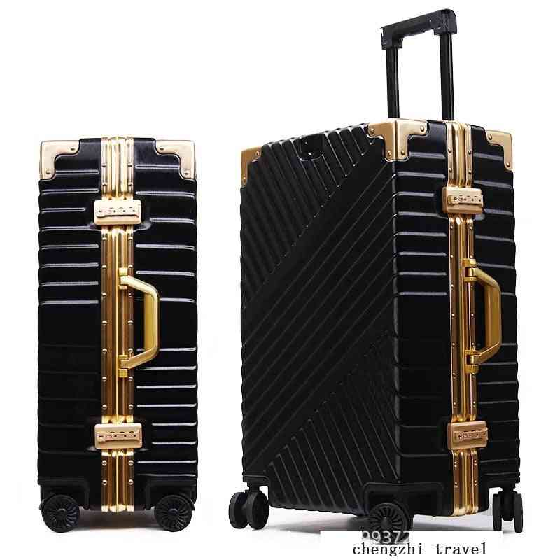 Carrylove Aluminum Frame Suitcase Box Strong Business Trolley Luggage Bag On Wheels