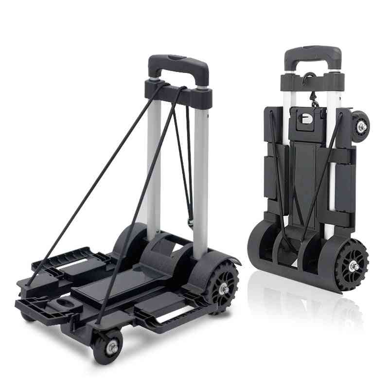 Full Folding Stainless Steel Luggage Car Abs Flatbed  Easy To Carry Trolley Suitcase
