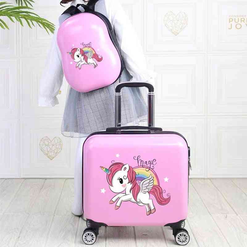 Travel Suitcase With Wheels Trolley, Luggage Set For  Kids
