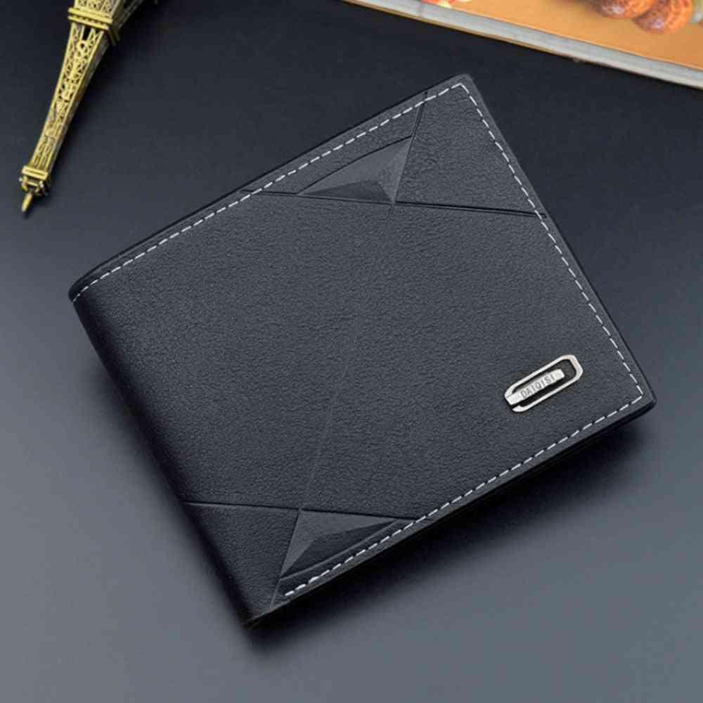 Men Leather Credit Id Card Holder, Wallet, Billfold Purse