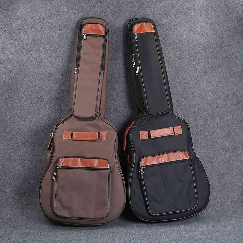 Oxford Fabric Acoustic Guitar Bag, Double Shoulder Straps Padded Waterproof Backpack