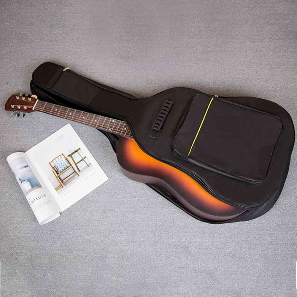 Zipper Oxford Cloth Full Size Guitar Bag, Soft Interior Pockets Padded Protective