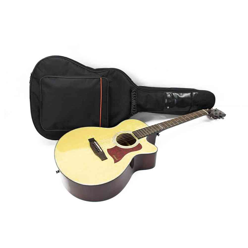 Portable Guitar Bag, Double Straps Padded Thicken Soft Case