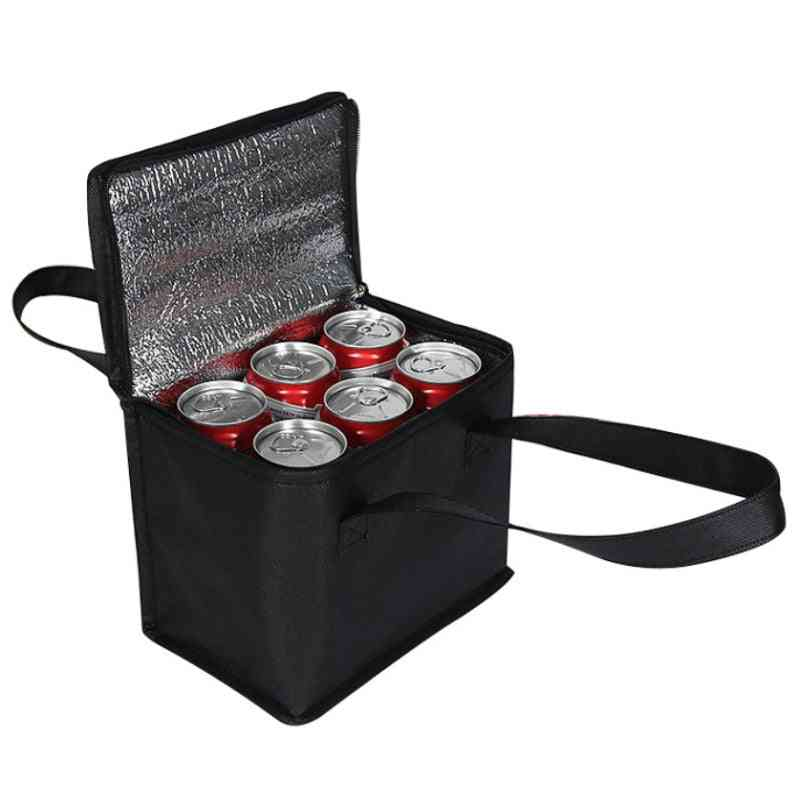 Lunch Cooler Bag, Insulation Folding Picnic Portable Ice Pack Food Bags