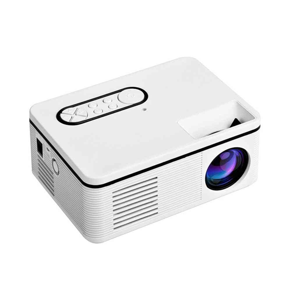 Portable Mini Projector, Hd Lumen Led Built-in Speaker Media Player