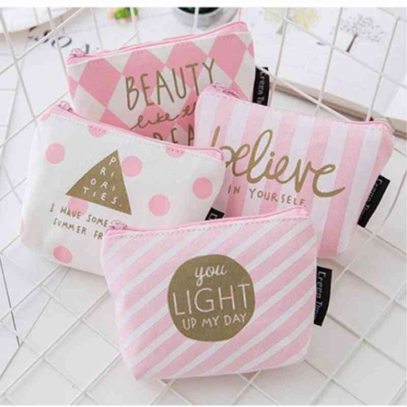 Mini Printed Canvas Pouch For Women