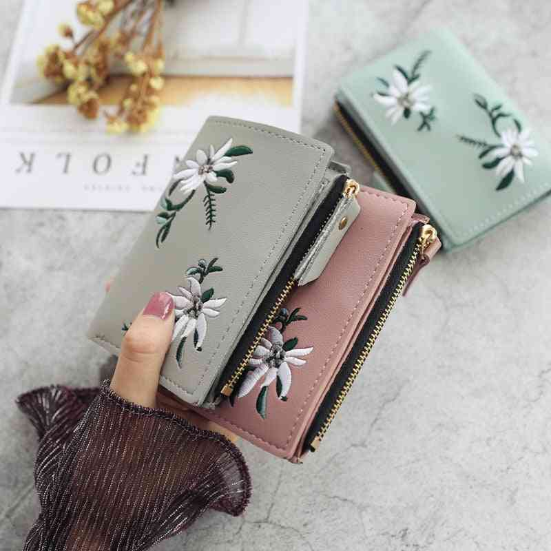Women Wallets, Small Leather Purse, Ladies Card Bag, Clutch Female, Money Clip