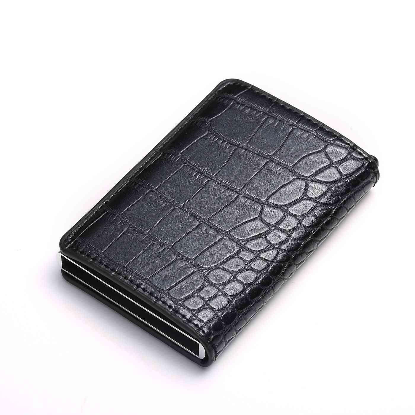 Carbon Fiber Card Holder, Aluminum Slim Short, Rfid Blocking Wallet