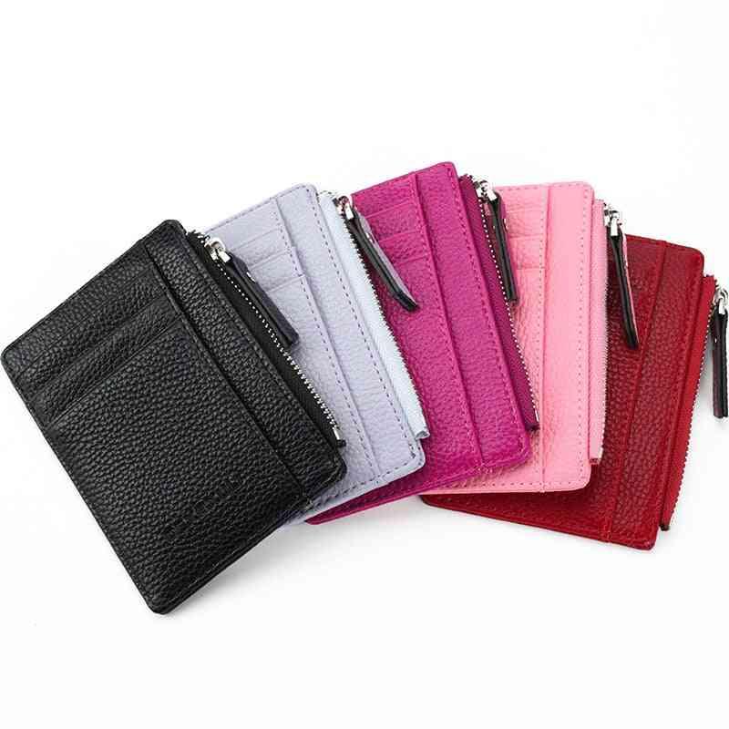 Mini Id Card Holders, Business Credit, Pu Leather Slim Case Organizer Wallet
