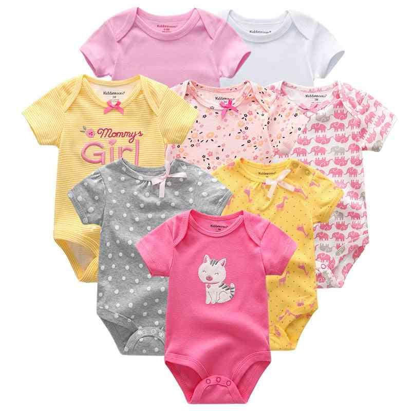 Short Sleeve Rompers - Newborn Baby Jumpsuit & Clothing (set-4)
