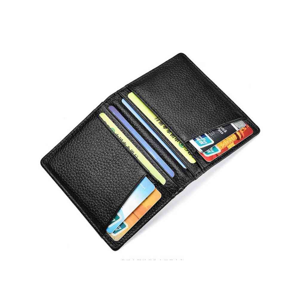 Super Slim Soft Genuine Leather Wallet Purse Card Holder