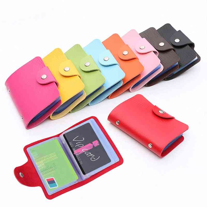 Pu Leather Credit Card Holder, Travel Cards Wallet