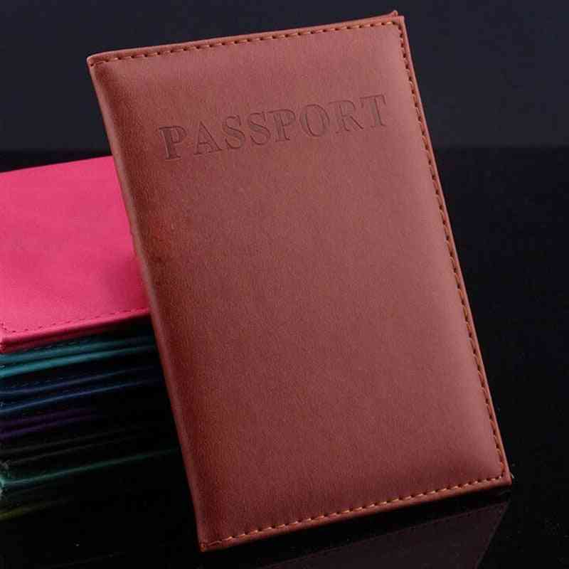 Multi-function Pu Travel Passport Card Case, America Id Card Bag Documents Protective Covers