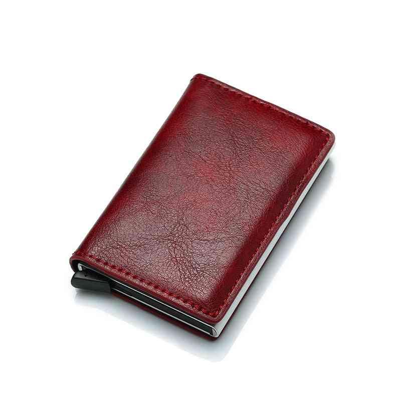 Credit Card Holder, Leather Bank Card Wallet Case, Cardholder Protection Purse