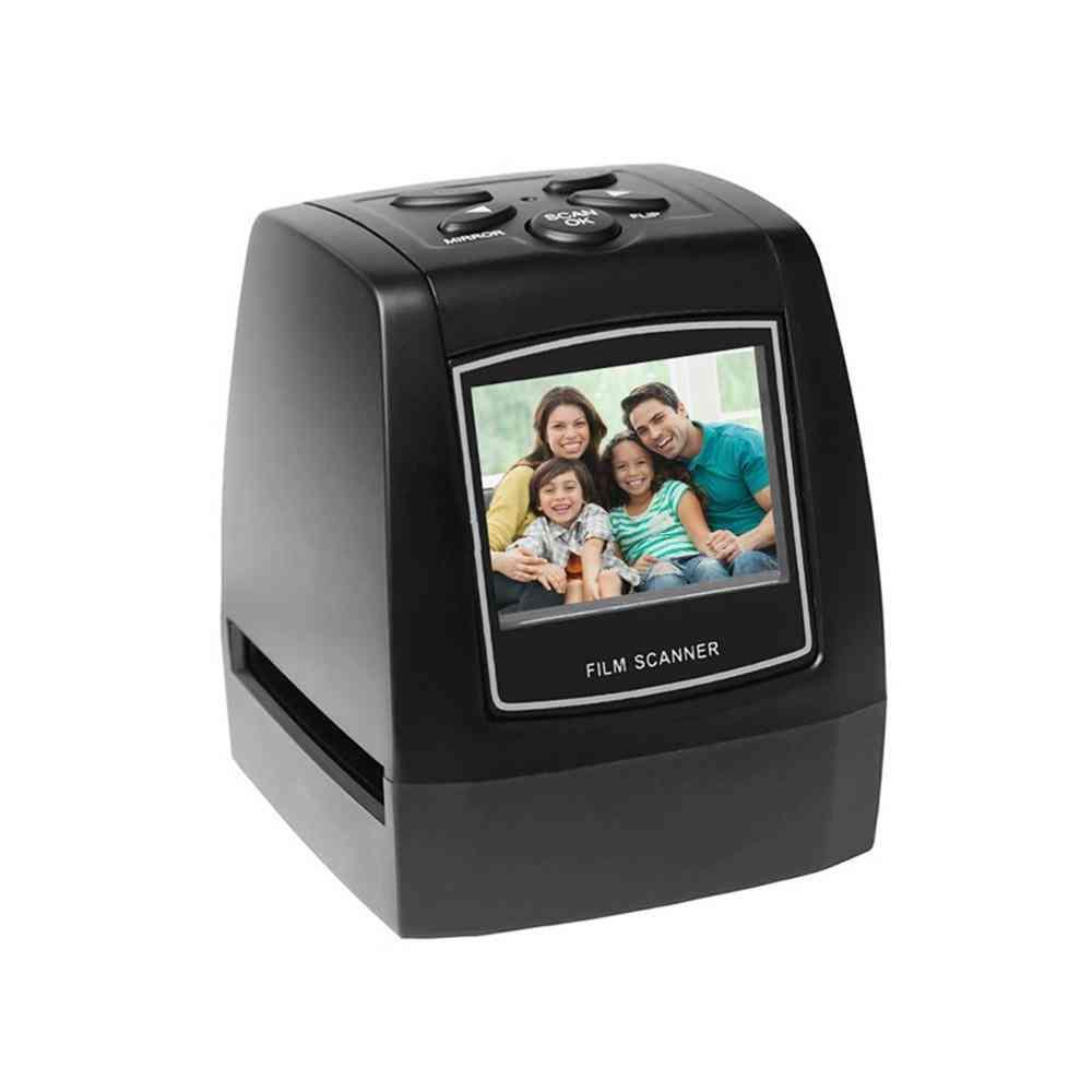 Protable Negative Film Scanner, Slide Film Converter, Photo Digital Image Viewer, Lcd Build-in Editing Software