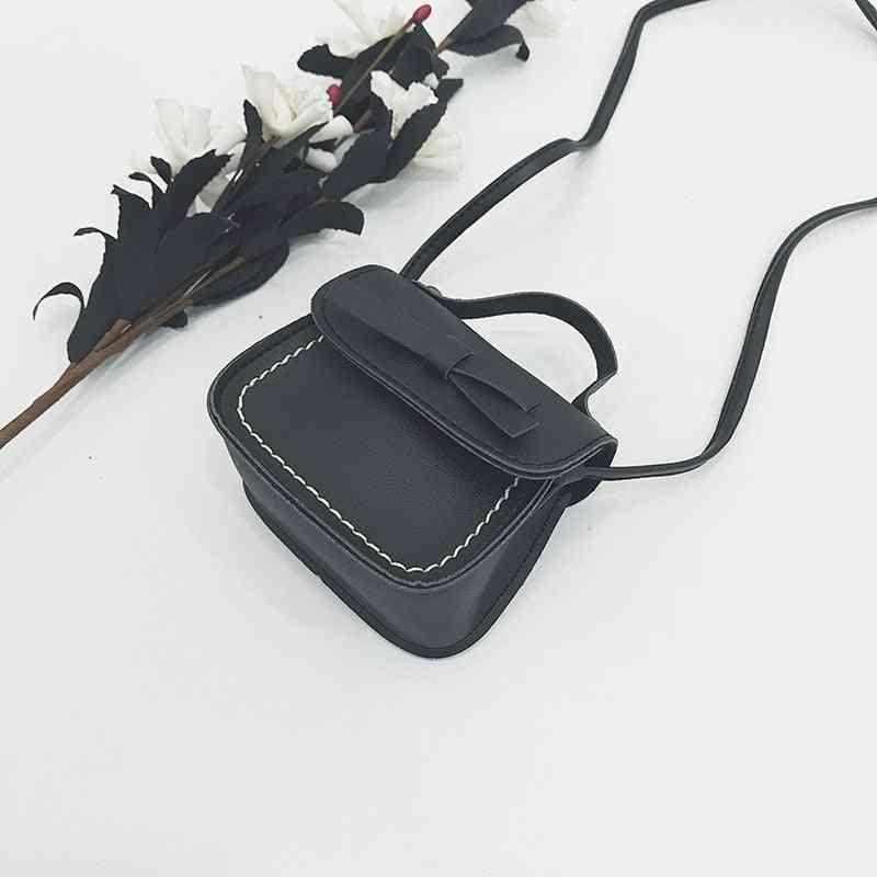 Children Princess Shoulder Bag Handbag Solid Bowknot Princess Coin Purses