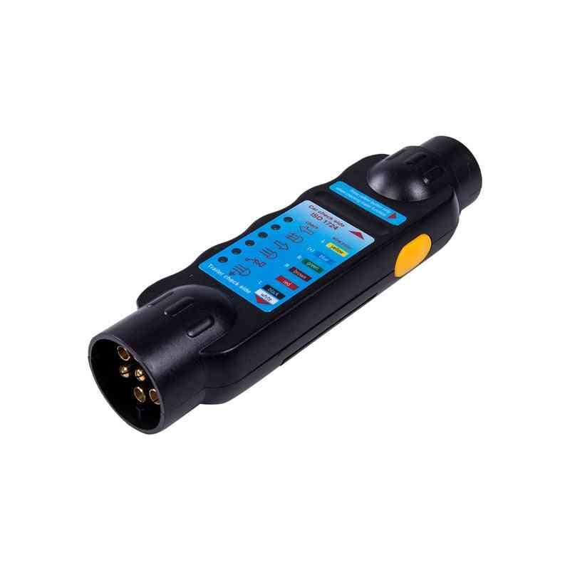 7-pin Towing Trailer Tow Bar Caravan Light Wiring Circuit Tester Plug & Socket