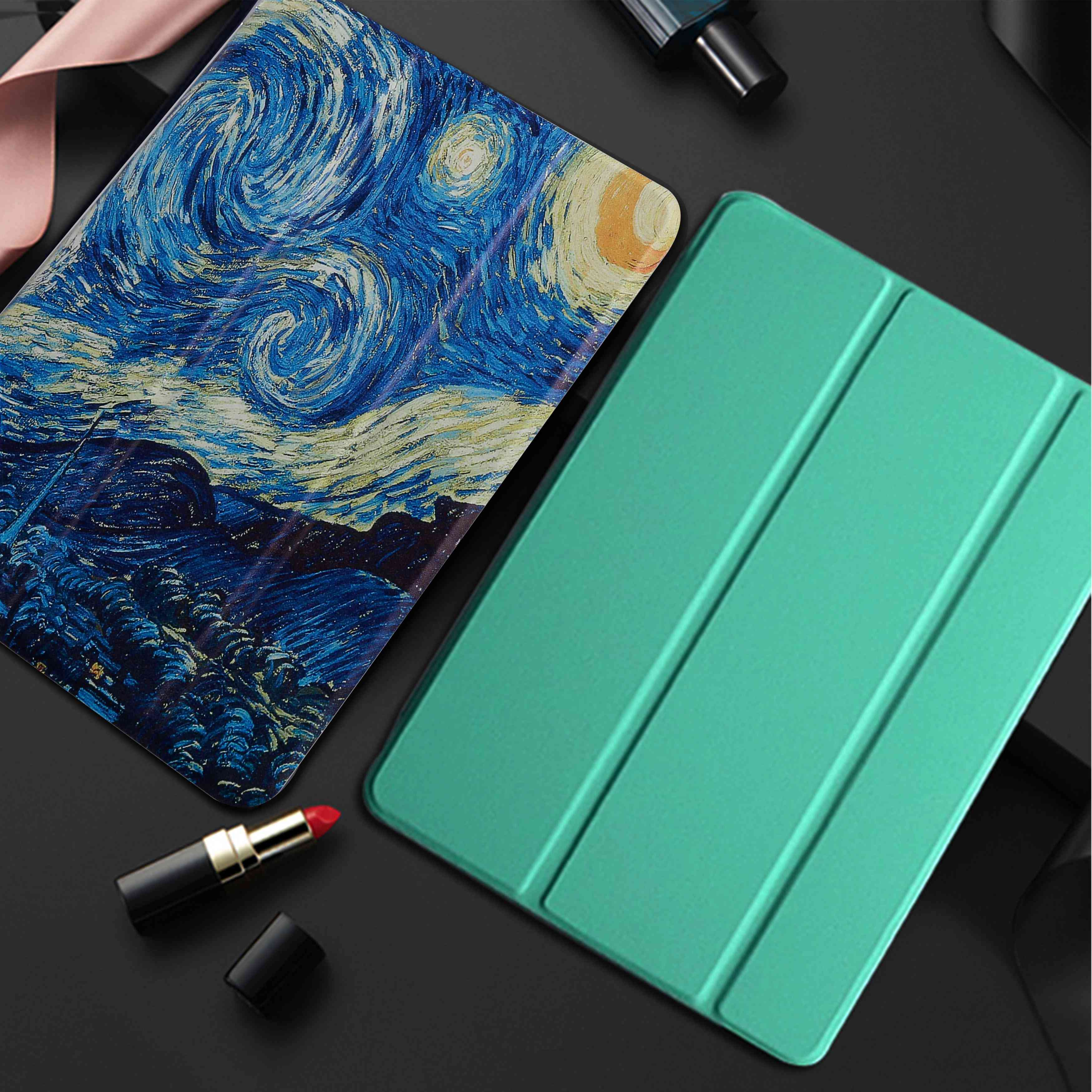 Pu Leather Stand - Auto Sleep Smart Folio Cover For Ipad, Tablet, Case