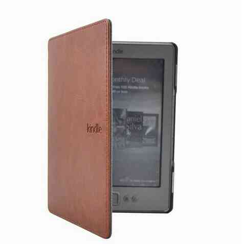 Leather Cover Case For Amazon Kindle E-book Reader