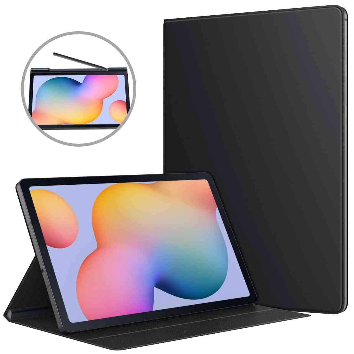 Tablet Case For Galaxy Tab S6 Lite, Ultra-slim Smart Folio Shell Cover Magnetic Absorption