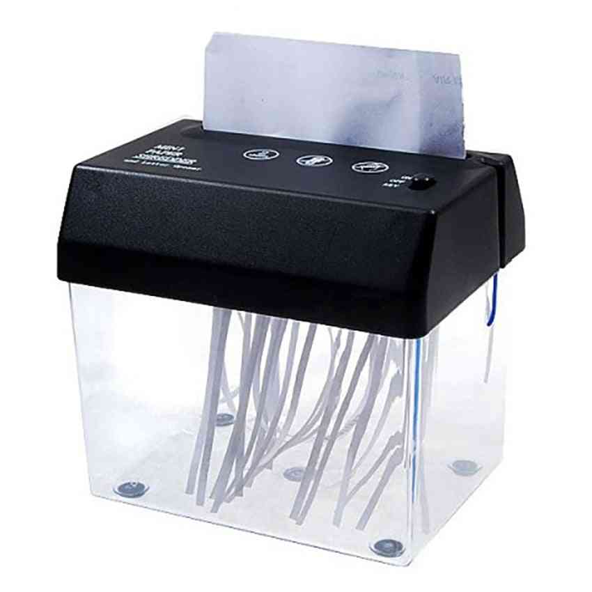 Mini Electric Usb Battery Operated Shredder Documents Paper Cutting Tool