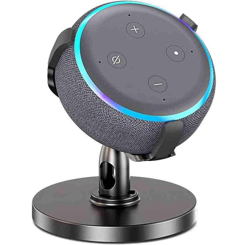 Table Holder For Echo Dot Generation, Adjustable Stand Bracket Mount Speaker (black)