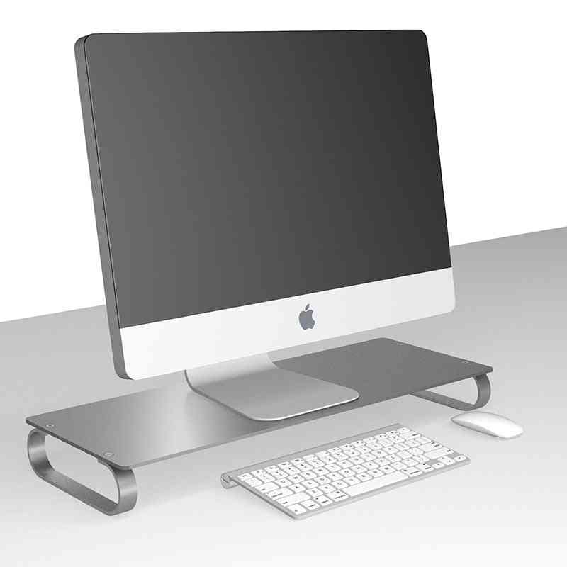 Aluminum Lcd Led Display Heighten Base Laptop Stand Desktop Imac Macbook