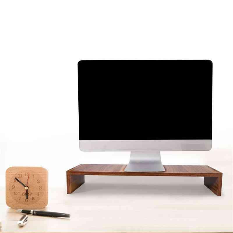 Desktop Monitor Computer Screen Riser Shelf Plinth Strong Laptop Stand Desk