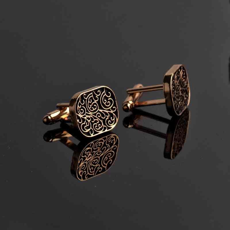 Men's Shirts Cufflinks Collection Accessories, Design Carving Cufflink