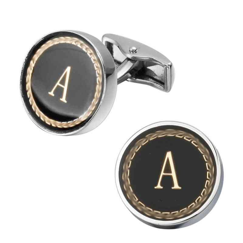 Arrival Fashion Letter The English Alphabet Cufflinks