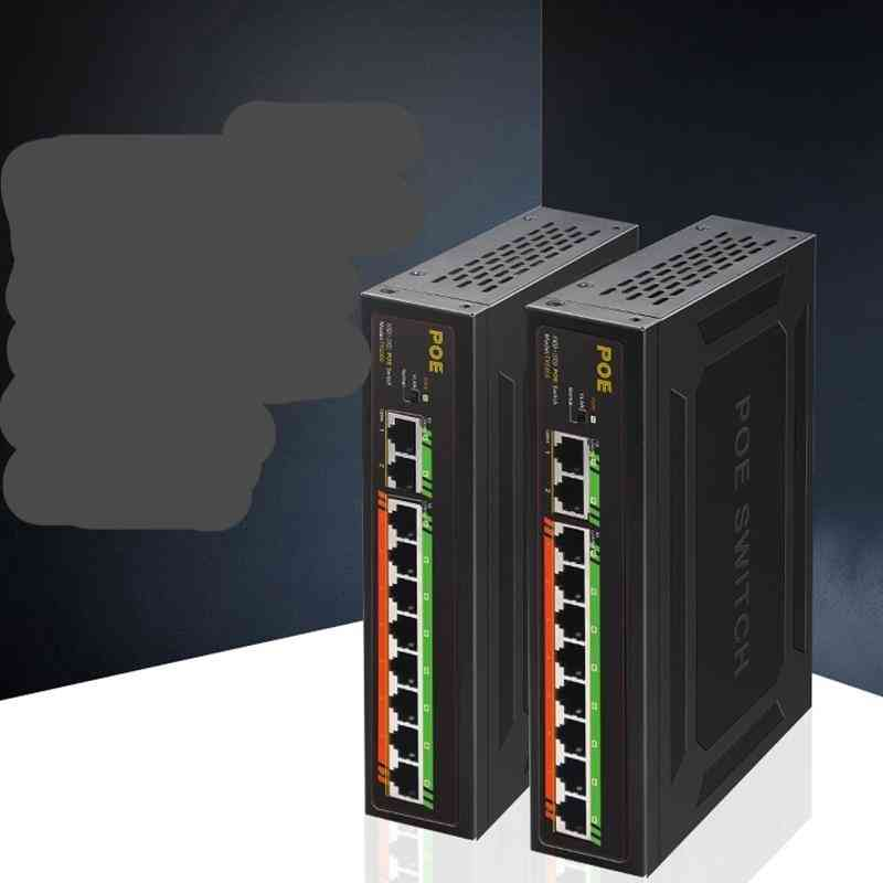 Poe Gigabit Switch Active Fast Switch With Internal Power 52v For Poe Cameras Security Monitor