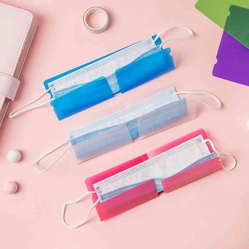 Protection Plastic Sheet Washable Mask Holder-bag