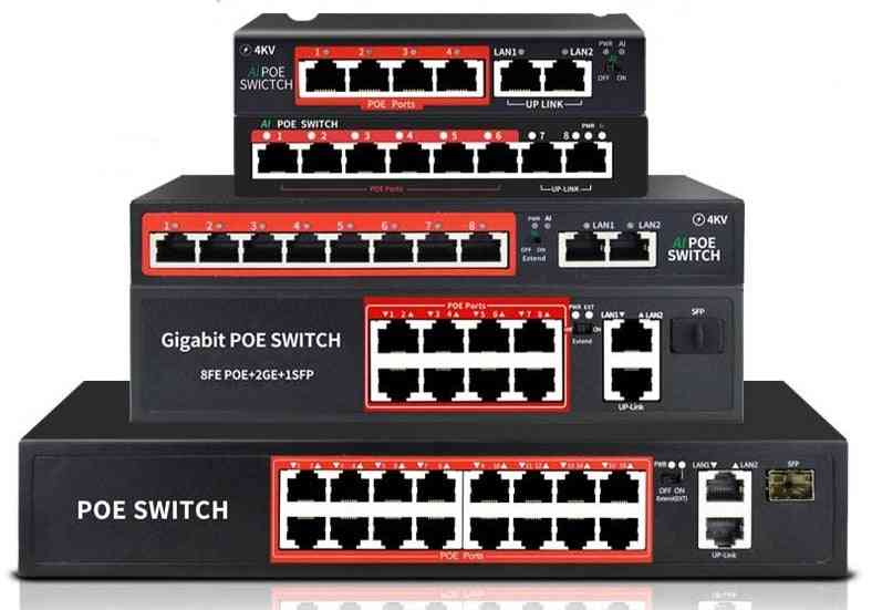Poe Switch With Standardized Af/at 4port /8port Network Switch Ethernet