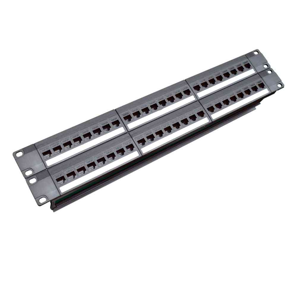 Cabinet Rack Pass-through Cat6 Patch Panel Rj45 Network Cable Adapter Keystone Jack Modular