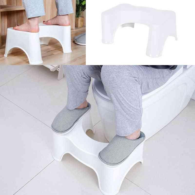 U-shaped Squatting Toilet Stool, Non-slip Pad, Bathroom Helper Assistant Foot Seat