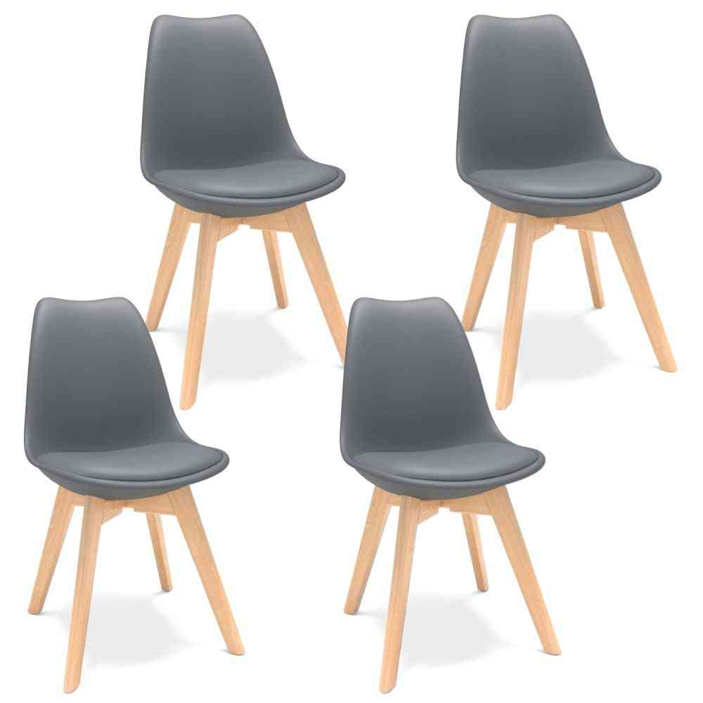 Scandinavian Design Dining Wood Chairs For Kitchen/ Dining Room