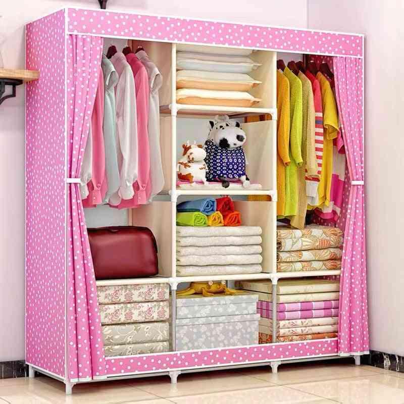 Non-woven Fold Portable Storage Furniture, Quarter Wardrobe Cabinet Bedroom Organs
