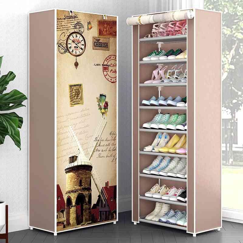 Multi Layers Shoe Rack, Nonwoven Fabric Storage Closet
