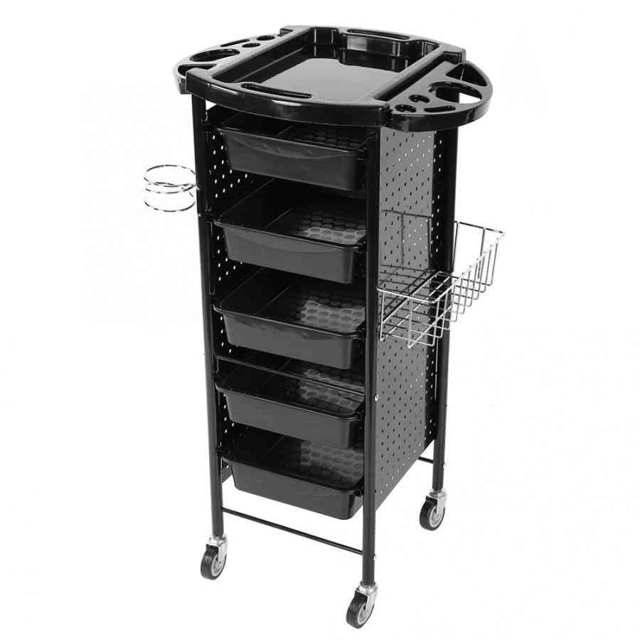 Storage Rack Trolley Cart With Wheels For Hair Salon